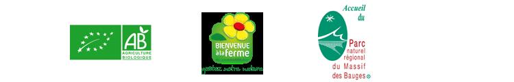 Logo AB, Bienvenue à la Ferme, Marque Parc Bauges